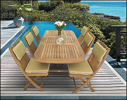 Teak Picnic Tables With Detached Benches - Teak picnic table with detached benches
