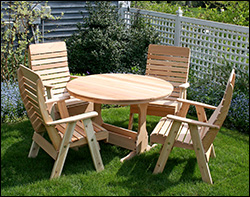 Round Red Cedar Patio / Picnic Tables