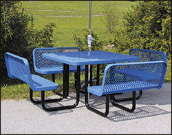 Coated metal tables coated metal patio picnic tables with backed benches watchthetrailerfo