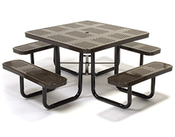 Coated metal tables coated metal patio picnic tables with walk in watchthetrailerfo