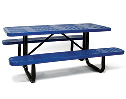 Coated metal tables rectangular coated metal patio picnic tables watchthetrailerfo