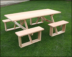 Outdoor Picnic Tables With Walkin Benches - Walk in picnic table