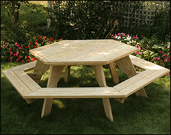 Treated Pine Picnic Tables - Four sided picnic table