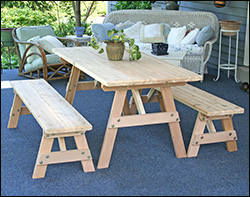 Traditional Leg Patio / Picnic Tables