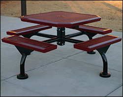 Coated metal tables square coated metal patio picnic tables watchthetrailerfo