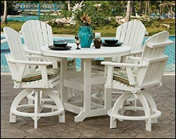 Polywood Patio / Picnic Tables With Chairs