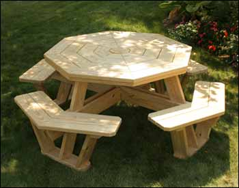 Free Octagon Picnic Table Plans | Furniture Design
