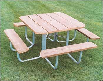 Все своими руками. Столы и скамейки для сада - с металлическим каркасом.