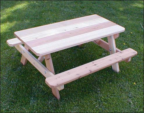 Charming Red Cedar Kidu0027s Picnic Table