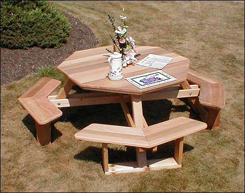 how to make a wooden octagon picnic table | Quick ...
