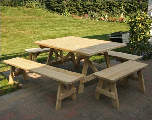Square Patio Picnic Tables