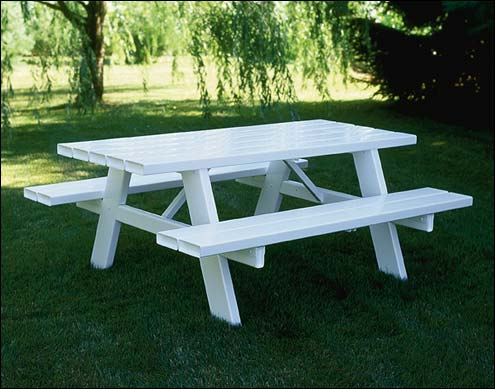 vinyl picnic table