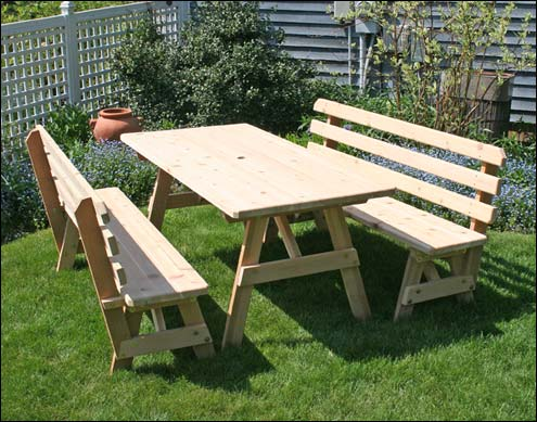 Picnic Tables By Style With Chairs Extra Wide Etc