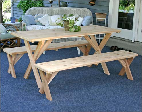 Wooden picnic tables without benches picnic table w benches