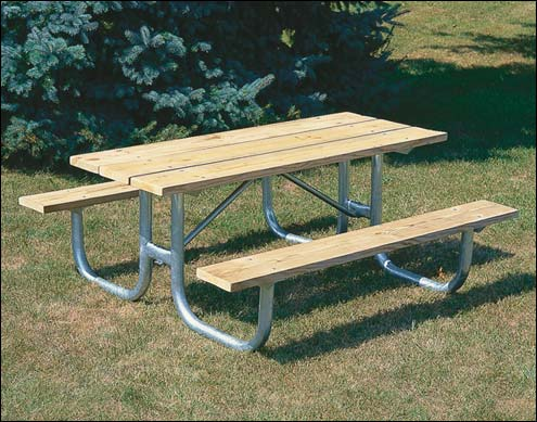 Outdoor Metal Picnic Tables Galvanized Steel