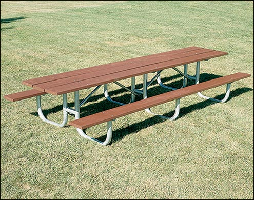 Outdoor Metal Picnic Tables Galvanized Steel - 12 foot picnic table