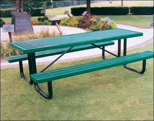 Coated metal tables regal metal picnic table watchthetrailerfo