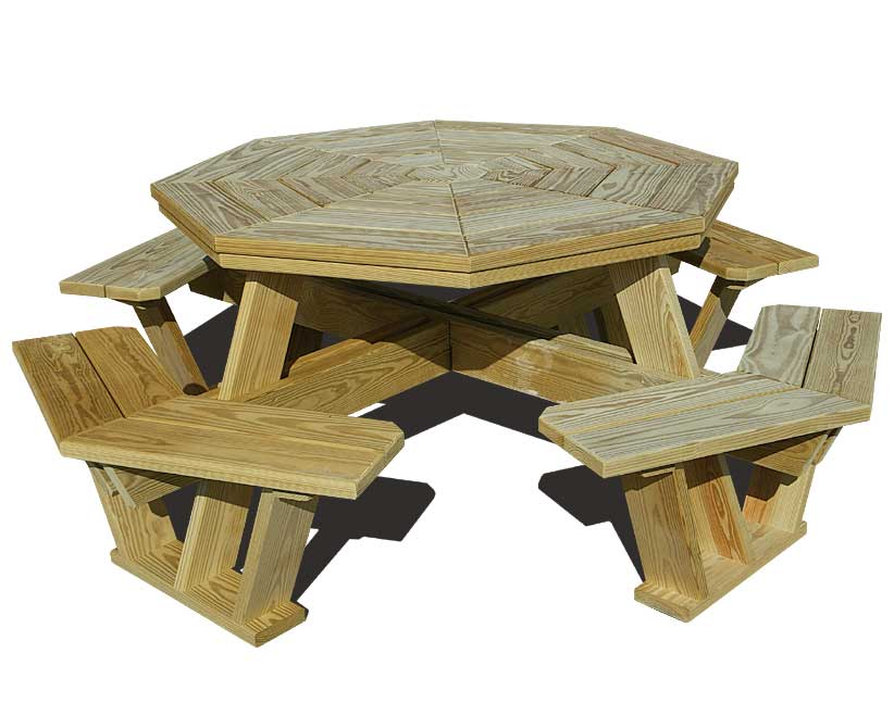 free plans for building a round picnic table
